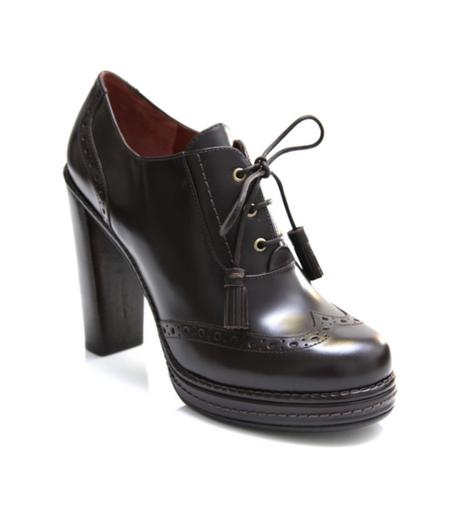 high heel brogues