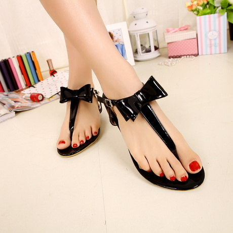 High Heel Thong Sandals