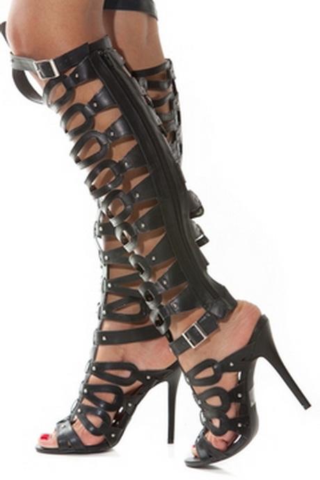 high heeled gladiator sandals