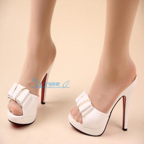 High Heeled Slippers