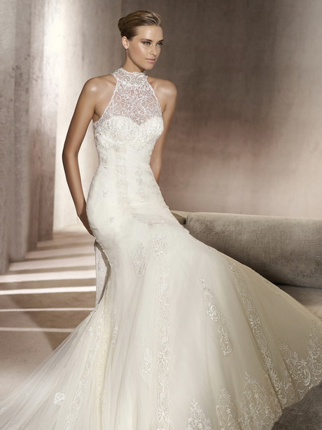 High neck lace wedding dress for Wedding dress high neck