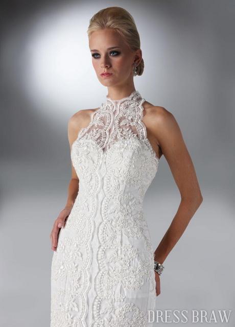 Wedding Dresses With High Neck : High neck lace wedding dress