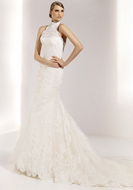 Wedding Dresses With High Neck : High neck wedding dresses