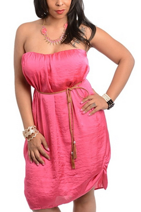 Hot pink plus size dresses