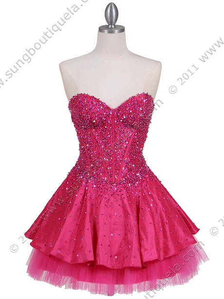 Hot Pink Party Dresses 107
