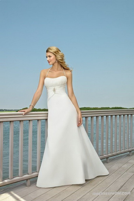 Inexpensive Beach Wedding Dresses