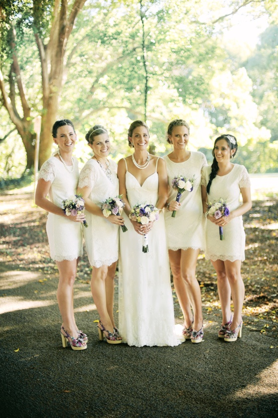 Lace Ivory Bridesmaids Dresses