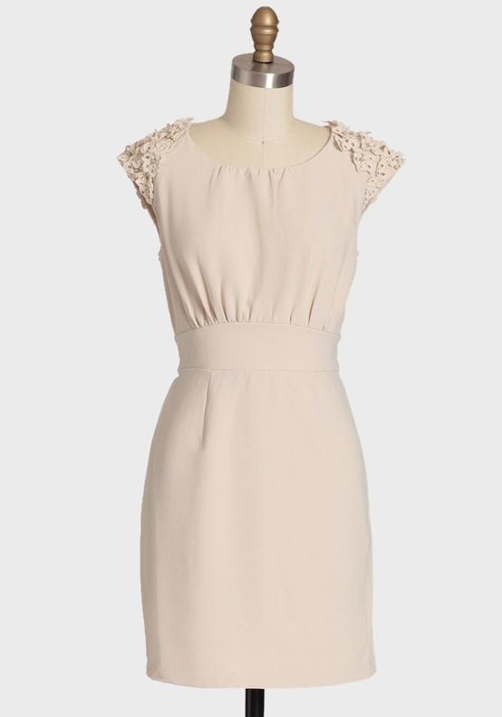 Ruche Smart Short Ivory Bridesmaids Dress