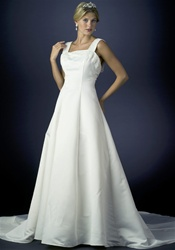 Discount bridal gown (B8022) Ivory