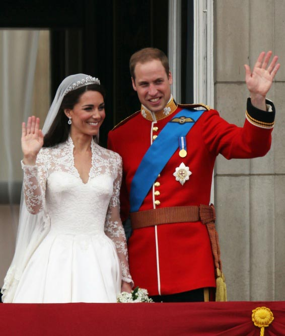 royal wedding wave william catherine