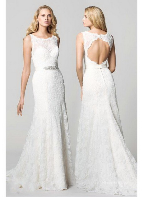 Lace open back wedding dress for Lace wedding dresses open back