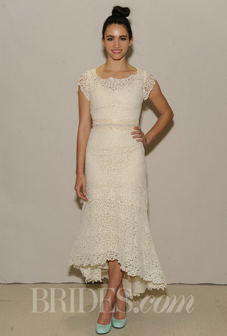 Lace tea length wedding dress for Tea length wedding dresses for older women