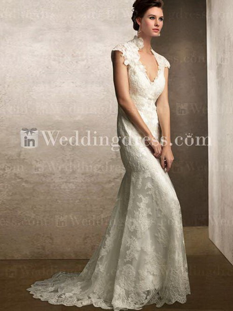 Lace vintage style wedding dress for Vintage inspired lace wedding dresses