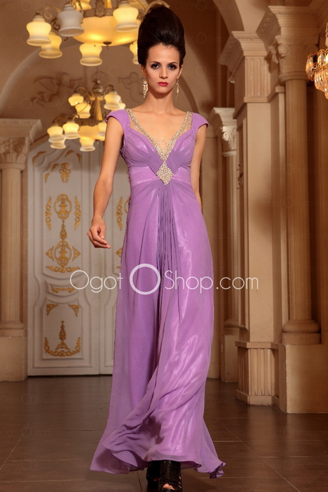 lavender evening gowns