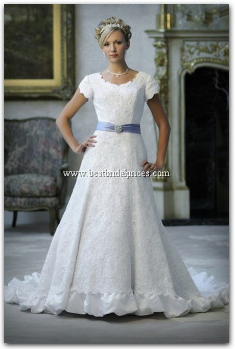 Lds bridal gowns for Mormon modest wedding dresses
