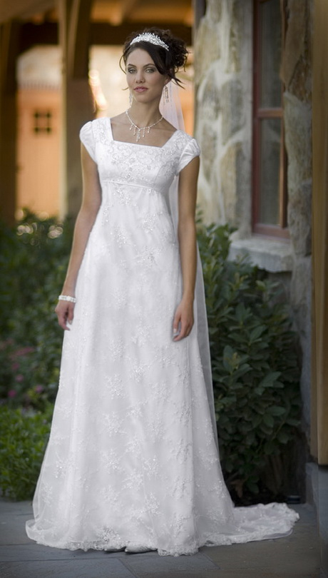 Lds modest prom dresses for Lds wedding dresses lace