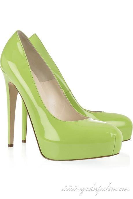 lime green heels