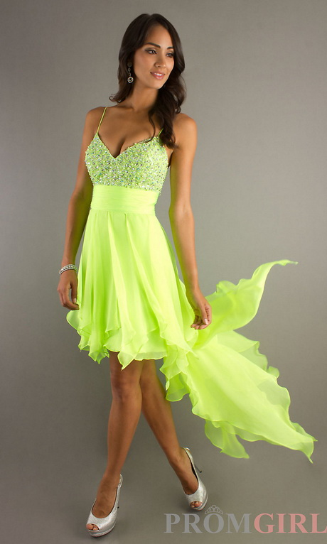 Lime green homecoming dresses