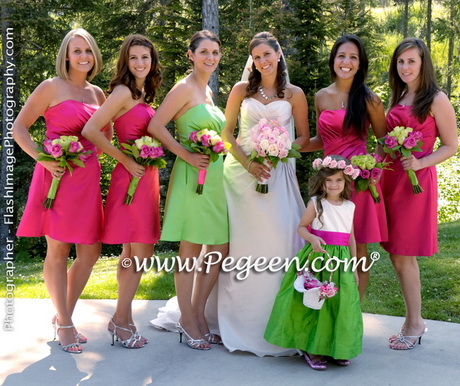 Yellow And Lime Green Bridesmaid Dresses 118