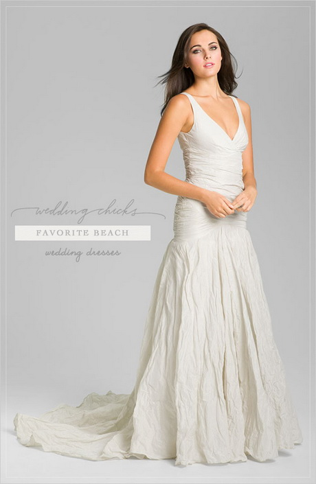 Linen beach wedding dresses for Nicole miller wedding dresses nordstrom