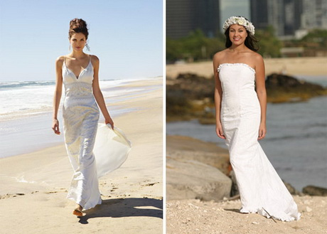 White beach wedding dresses casual in costless designs 2017