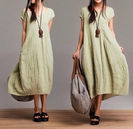 Linen Plus Size Dresses