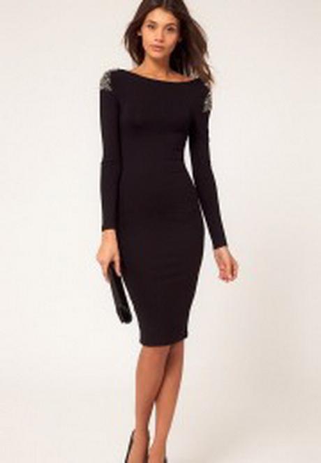 Черные до колен платья