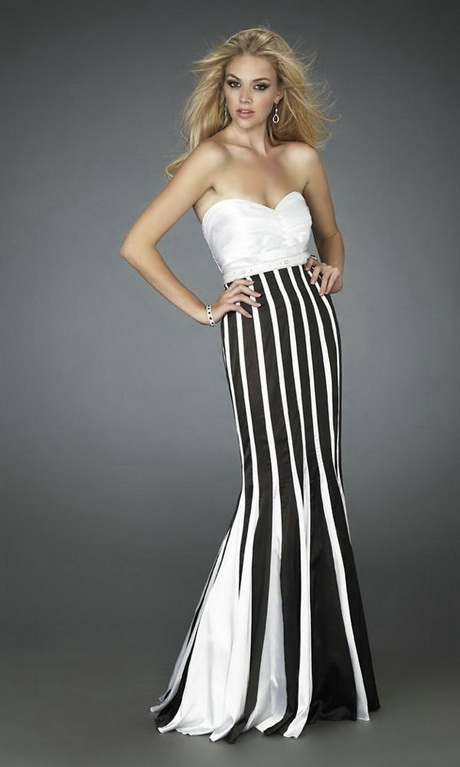 long black and white dresses