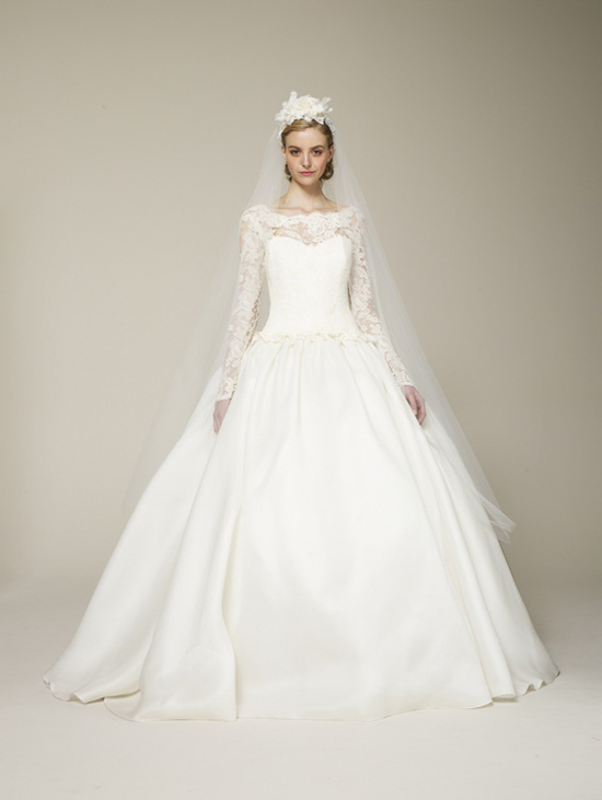 Marchesa Spring 2013 Long Sleeved Bridal Gown