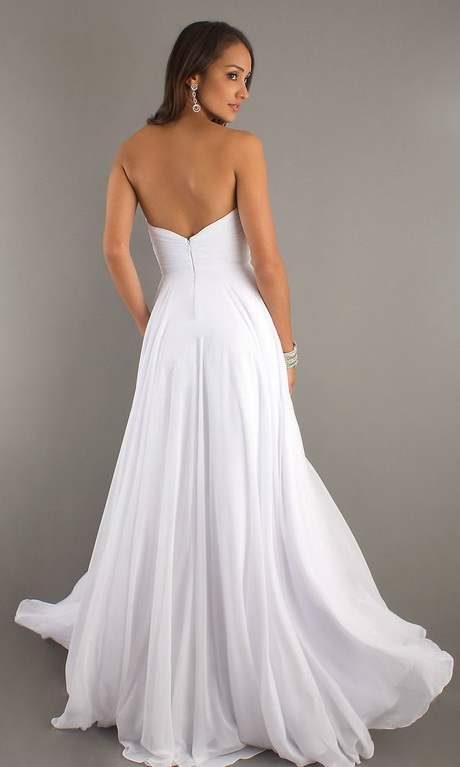 Long White Prom Dresses