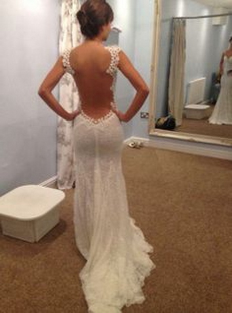 Lace wedding dresses with low back