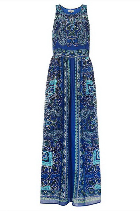 Matalan Blue Maxi Dress – Summer Dresses – Best Dresses (Blue Maxi Dress. Just add some flat sandals with chandelier earrings and a cool clutch in a .