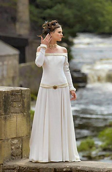 White medieval princess dresses