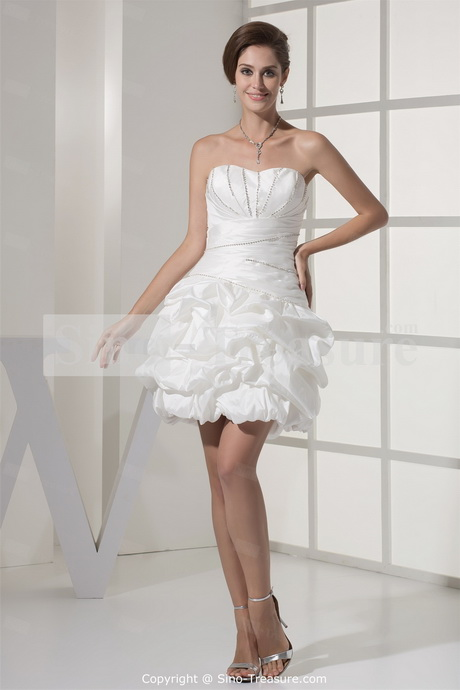 Ball gown sweetheart taffeta beading mini wedding dress previous