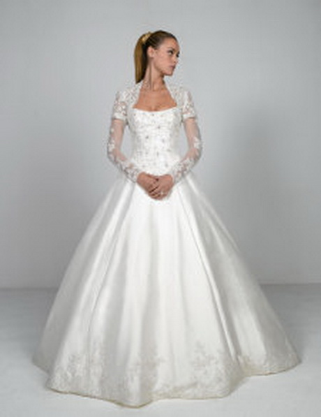 Modest bridal gowns with sleeves for Modest lace wedding dresses