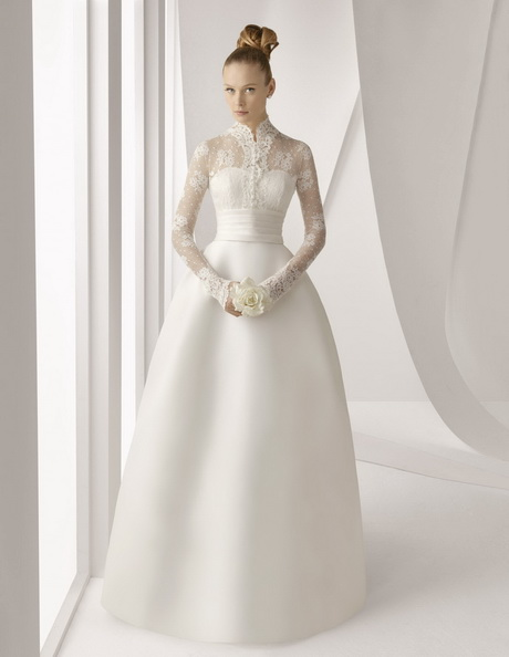 modest wedding gowns with sleeves