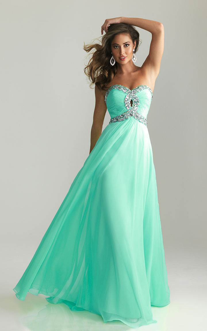 Beaded Night Moves 6642 Cheap Long Prom Dress