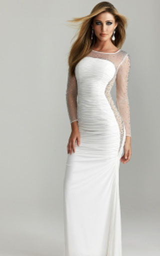 2013 Cheap New Sexy White Night Moves Prom Dress 6686