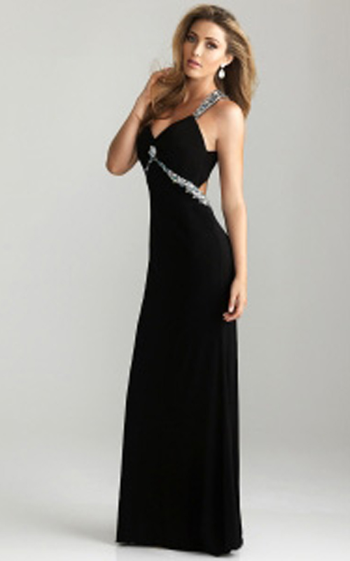 Sexy Black Long Prom Dress by Night Moves 6614