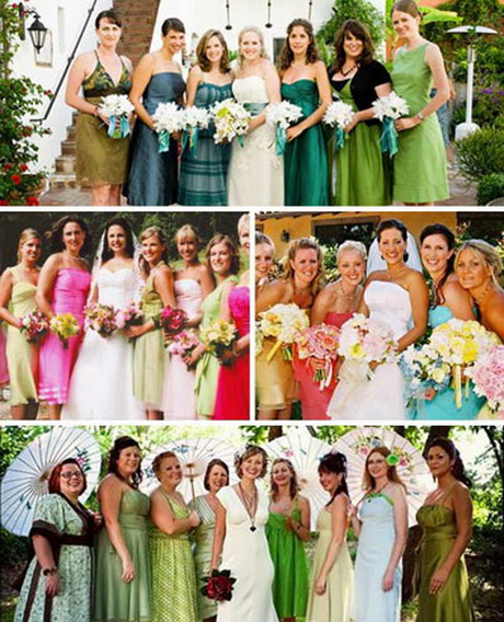 Non Traditional Wedding Dresses With Color: Non Traditional Bridesmaid Dresses