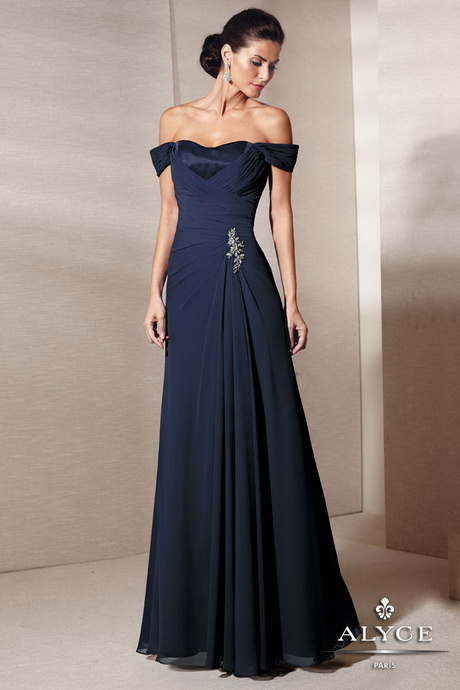 Off The Shoulder Evening Gowns