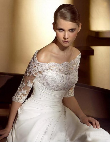 Off the shoulder lace wedding dresses for Wedding dress with off the shoulder sleeves
