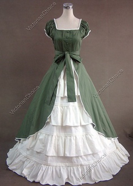 Dark green victorian dress