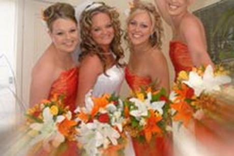 Orange Bridal Dresses