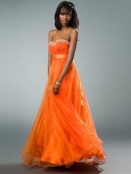 Bright Orange Mermaid Prom Dresses Orange prom dress