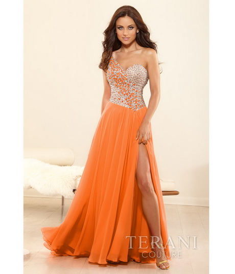 The gallery for neon orange prom dresses 2014 for Cheap wedding dresses in orange county