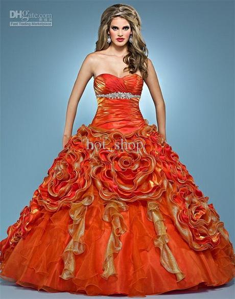 Orange wedding dresses  Orange wedding ...
