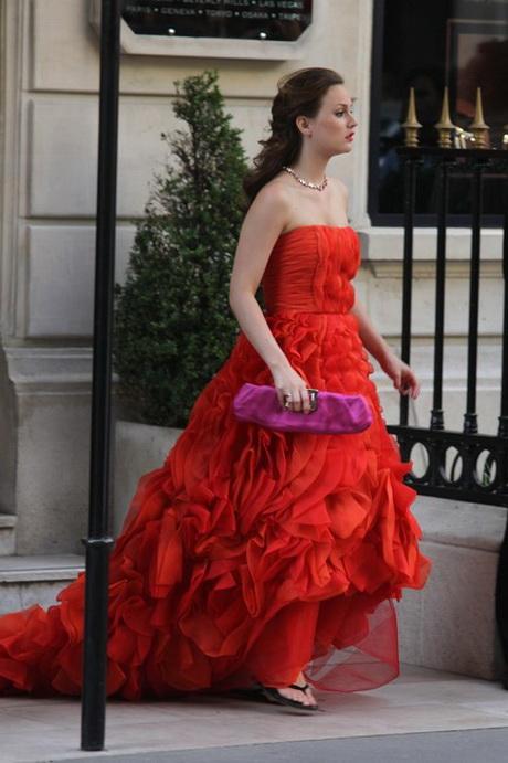 oscar de la renta red dress