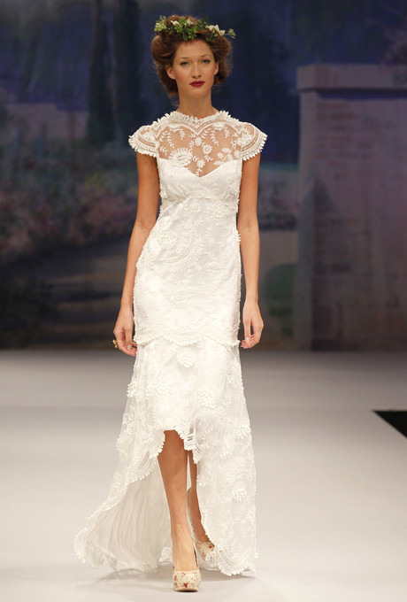 Lace Edwardian inspired Bridal Gown - CLAIRE PETTIBONE Marcelle