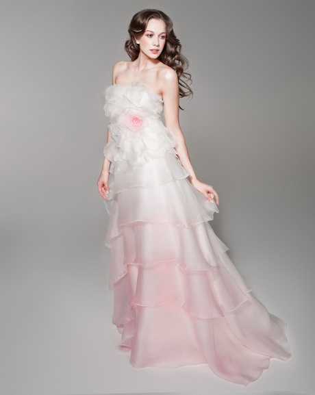 Plus size pink wine wedding dresses for White and hot pink wedding dress